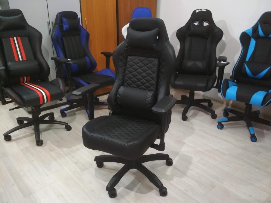 Кресло компьютерное геймерское VIVA 6606, кож.зам (НОВОЕ)