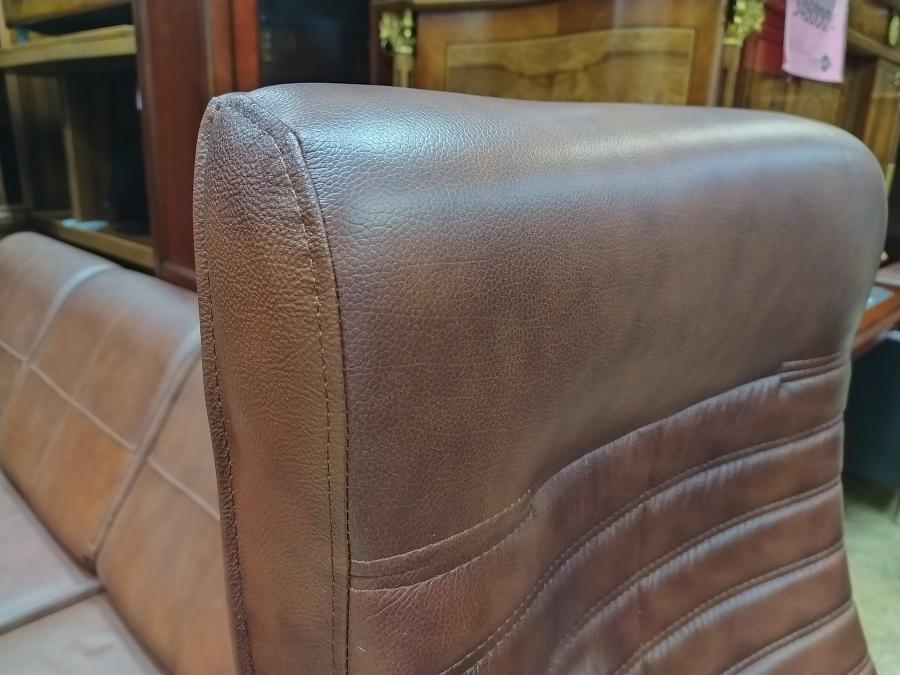 Кресло руководителя ОРИОН Хром МТГ (кожа коричневый). НОВОЕ!