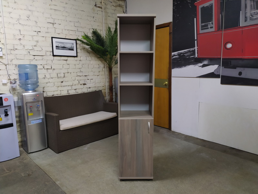 Шкаф для документов узкий ЛИДЕР (вяз либерти) Новый