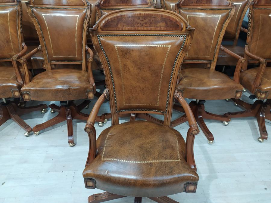 Кресло руководителя ALEMAN CANELLA (кожа/дерево) б/у