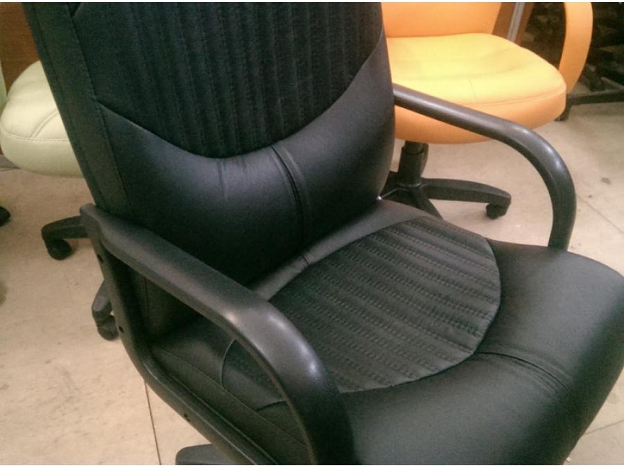 Кресло руководителя ГЕРМЕС ТГ (кожа черный). НОВОЕ!