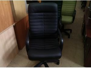 Кресло руководителя ОРМАН (кожа черный) НОВОЕ!