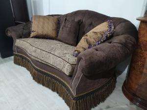 Диван с подушками (текстиль) б/у