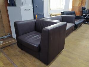Кресло мягкое для посетителей МИЛАРГО (экокожа) б/у