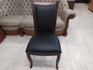 Кресло конференц новое кожа/дерево